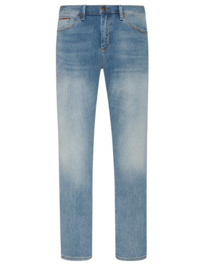 Jeans mit Stretchanteil, Slim-Fit in HELLBLAU