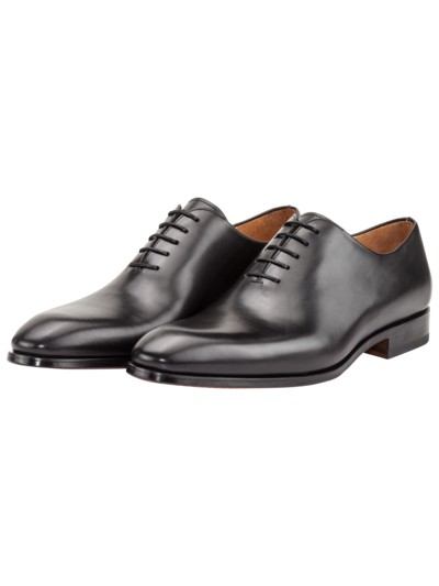Klassischer Oxford-Businessschuh, Whole Cut in SCHWARZ