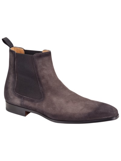 Chelsea-Boot in Velours-Leder in GRAU