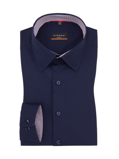 Businesshemd, Slim Fit, Under-Button-Down-Kragen in MARINE