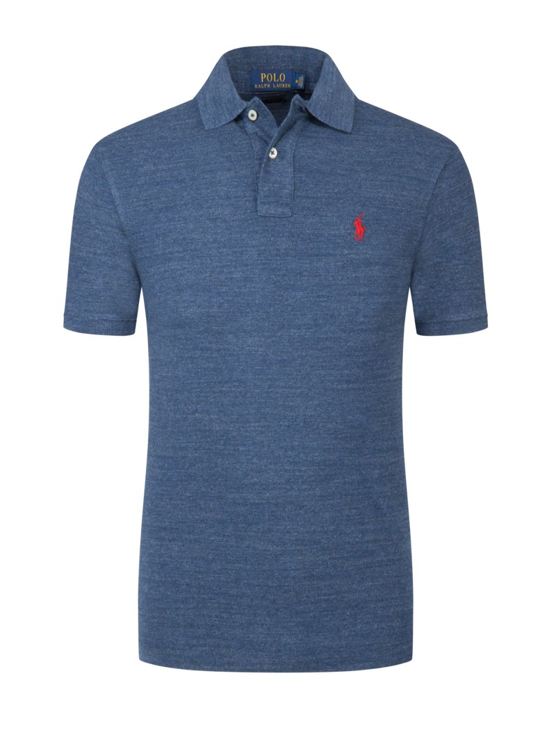 Poloshirt, Slim Fit in HELLBLAU