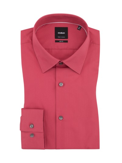 Silas Businesshemd, uni, Slim Fit in ROT