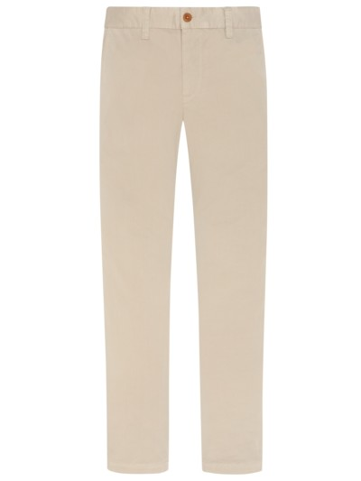 Chino im Washed-Look, LOU in BEIGE
