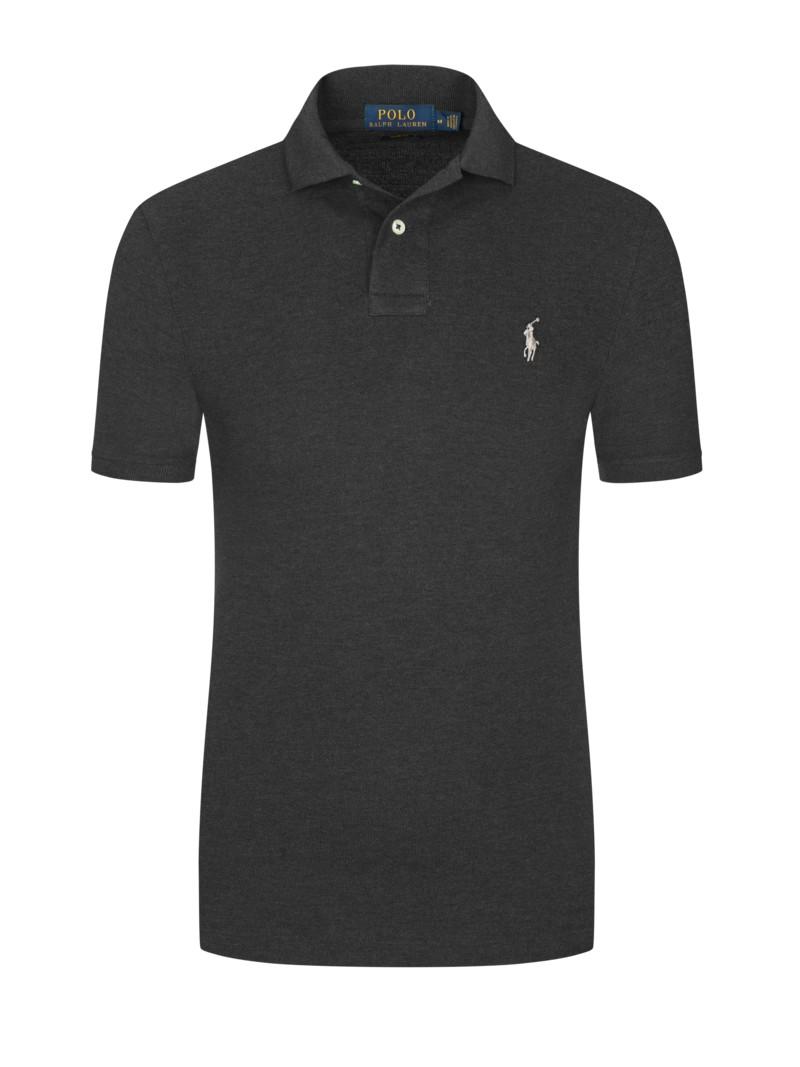 a35b5dfba0b7 Polo Ralph Lauren Poloshirt in melierter Optik, Slim Fit schwarz ...