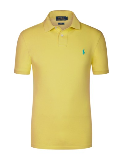 Poloshirt, Slim Fit in GELB