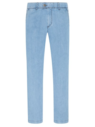 High Light Denim, Flatfronthose in HELLBLAU