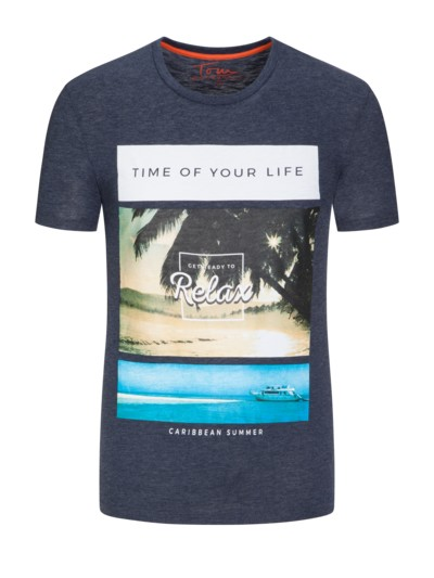 'Time of your life' T-Shirt in MARINE