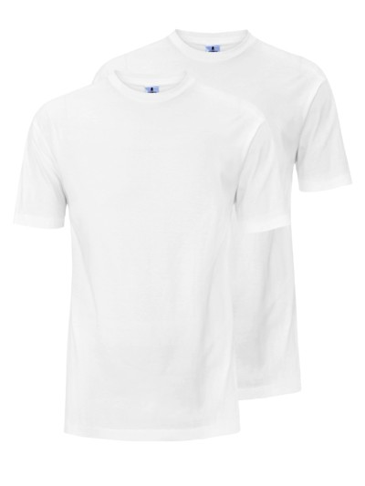 Doppelpack Rundhals T-Shirt, Classic Fit in WEISS