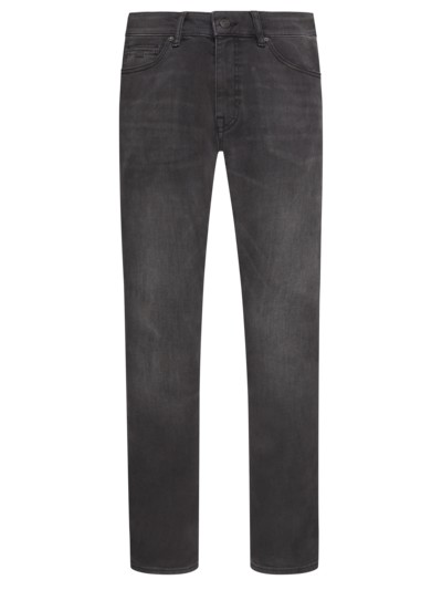 Dark-Denim Jeans mit Stretchanteil, Delaware, Slim Fit in ANTHRAZIT