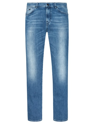 Jeans in 5-Pocket-Form, Regular Fit in BLAU