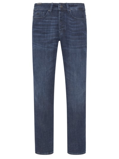 Modische Denim-Jeans, Tapered Fit in MARINE