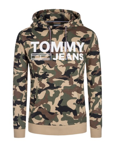 Camo-Hoodie, Hasenmuster in OLIV