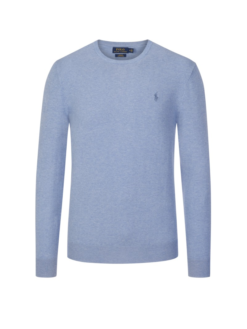 Pullover, Slim Fit, Rundhals in GRUEN