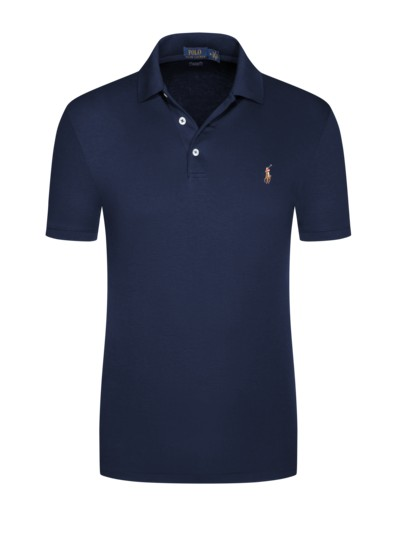 Poloshirt in softer Jerseyqualität, Slim Fit in MARINE