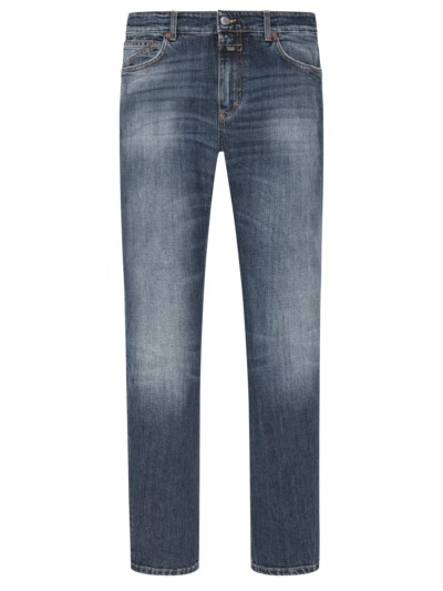 Used Jeans, Slim Fit in BLAU