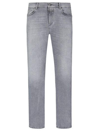 Jeans, Slim Fit in GRAU