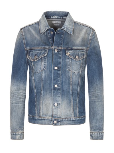 Jeansjacke im Used-Look in DENIM