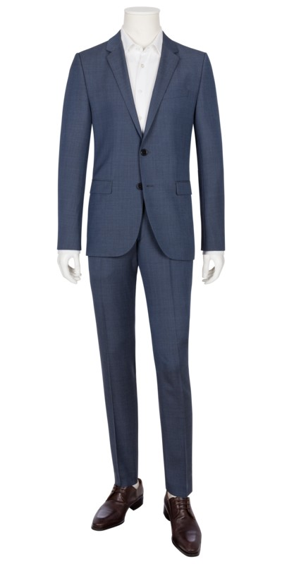 Businessanzug in Minimaldessin, Astian/Hets, Extra Slim Fit in BLAU