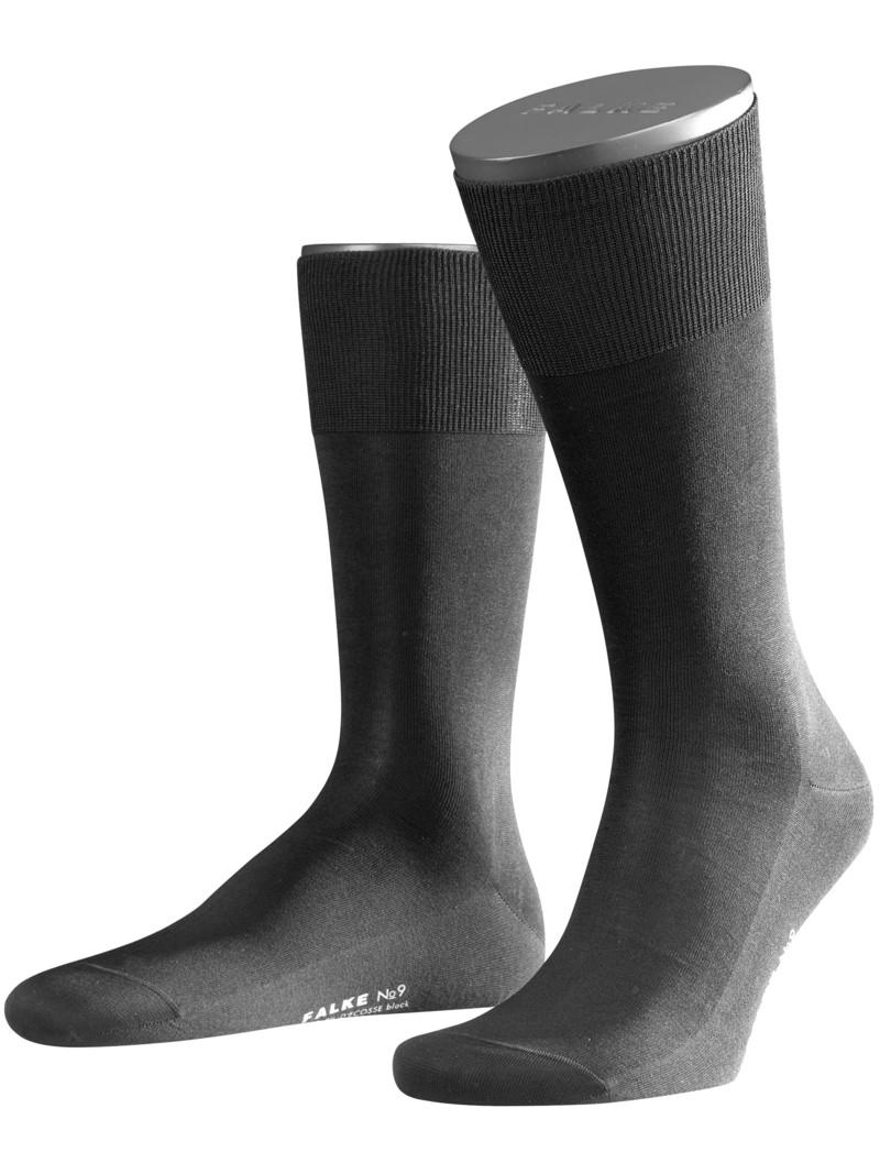 Socken, No. 9 Finest Fil De Ecosse von Falke in Schwarz für Herren