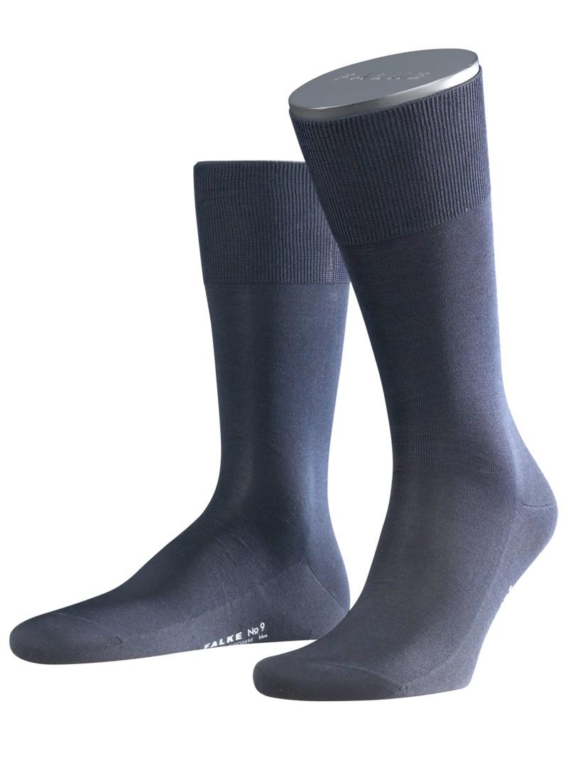 Socken, No. 9 Finest Fil De Ecosse von Falke in Marine für Herren