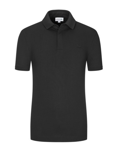 Stretch-Poloshirt in Baumwollpique, Paris, Regular Fit in SCHWARZ