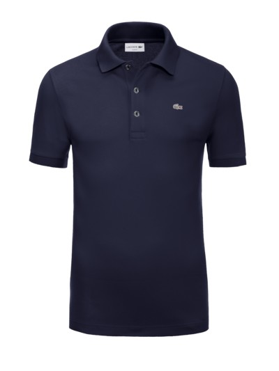 Poloshirt mit Stretchanteil, Slim Fit in MARINE