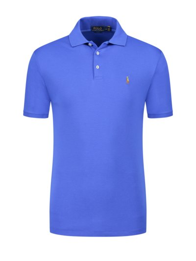 Soft-Touch Poloshirt, Slim Fit in ROYAL