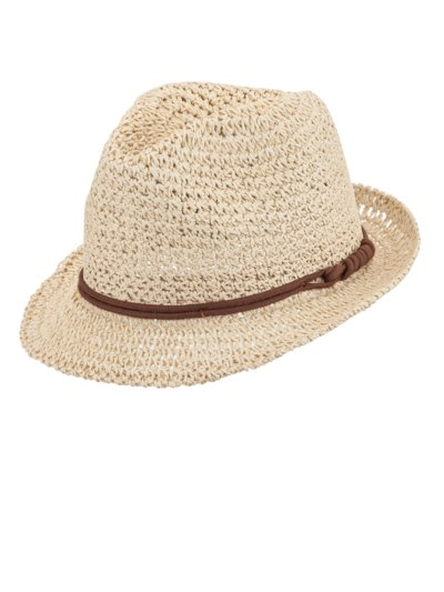 Leichter Sommerhut in Stroh-Optik, 100% Paper Yarn in BEIGE