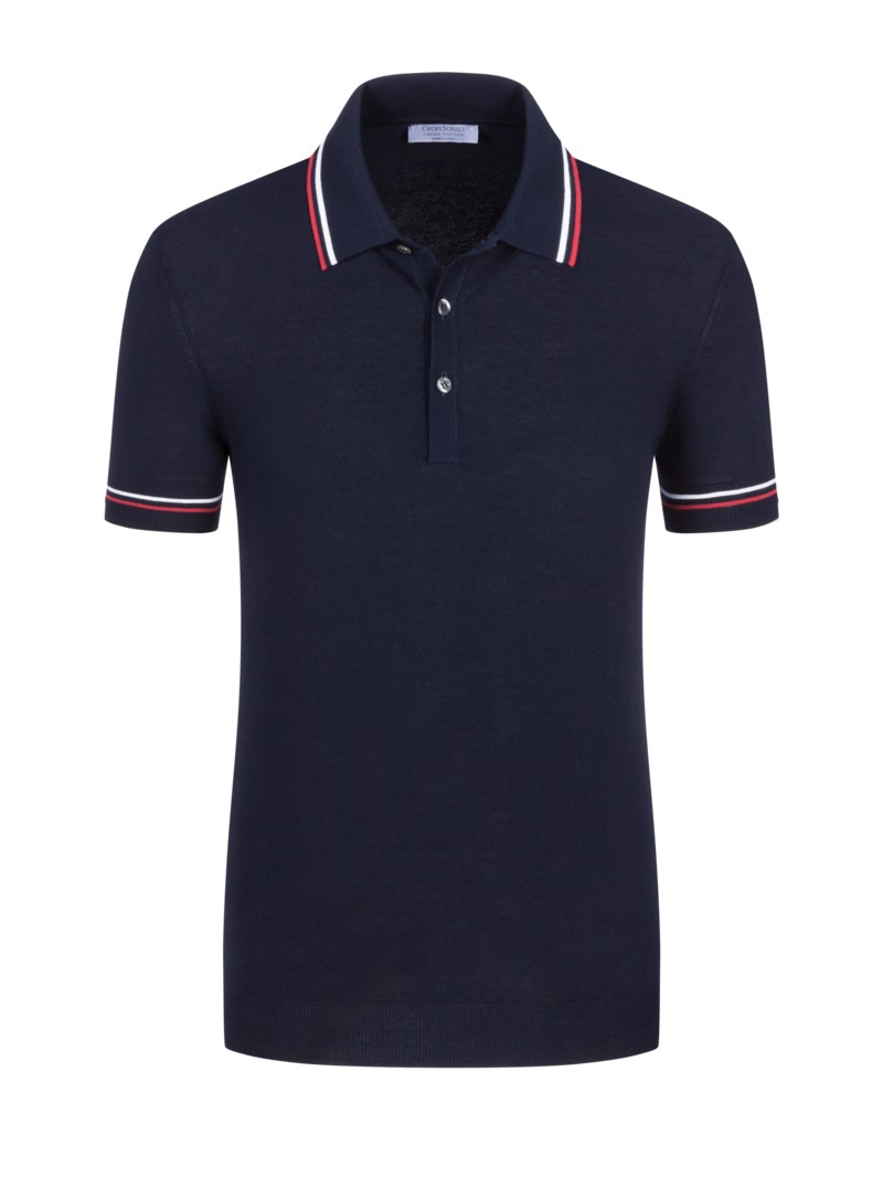 Poloshirt in Fresh-Cotton-Qualität in MARINE