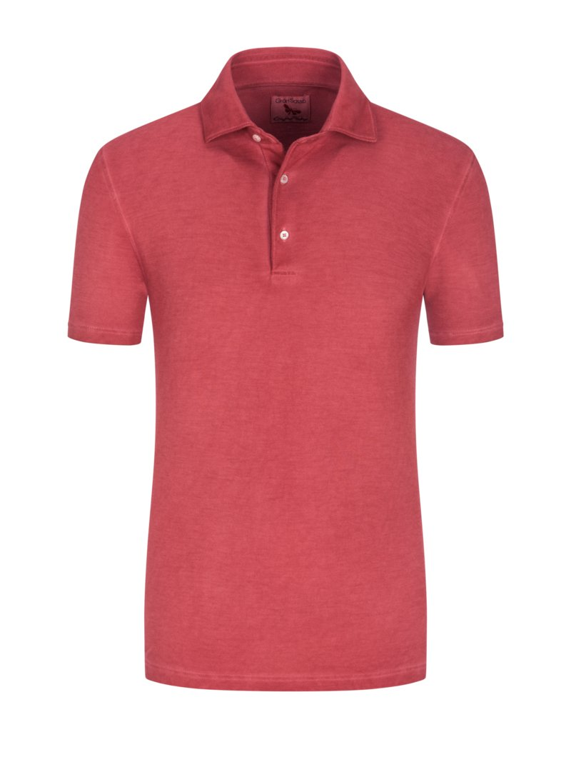 Poloshirt in Washed-Optik in ROT