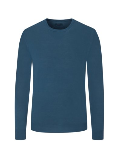 Pullover, O-Neck, in Vintage-Optik in DUNKELBLAU