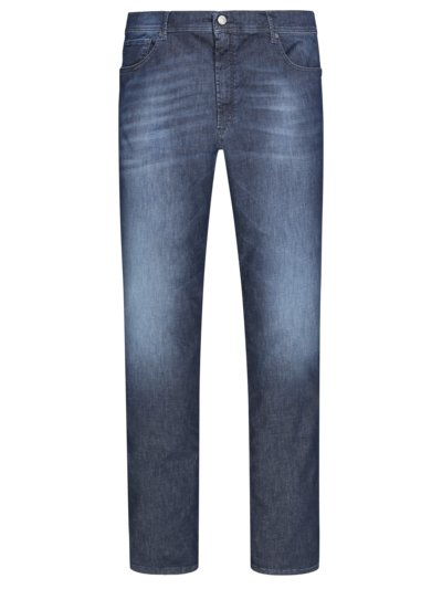 Leichte Jeans mit Stretchanteil, Slim Fit in MARINE