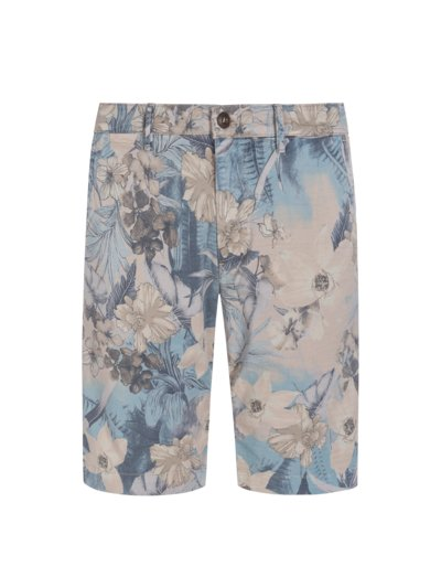 Modische Bermuda mit Hawaii-Print, Washington, Slim Fit in BRAUN