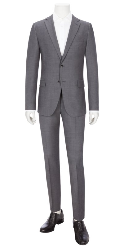 Businessanzug, Herby-Blayr, Slim Fit in GRAU