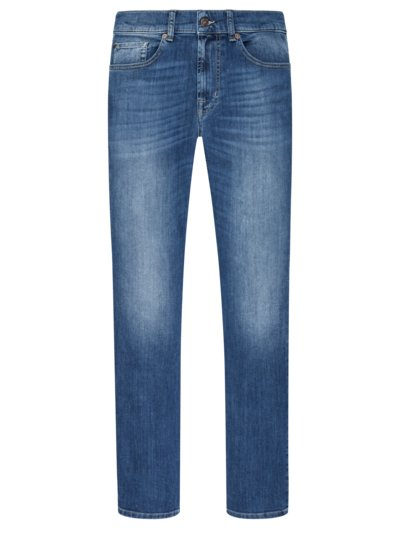 Jeans im Used-Look, Slimmy in BLAU