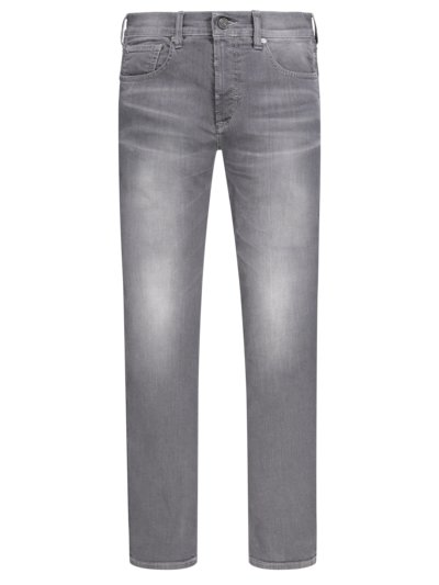 Modische 5-Pocket-Jeans, John, Slim Fit in GRAU