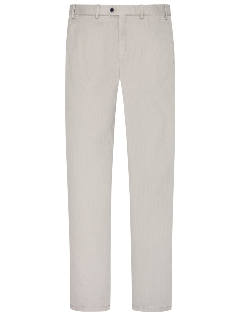Stretch-Chino in Minimalstruktur, Tierre, Slim Fit in GRAU