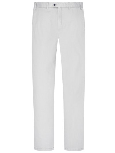 Stretch-Chino in Minimalstruktur, Tierre, Slim Fit in KITT