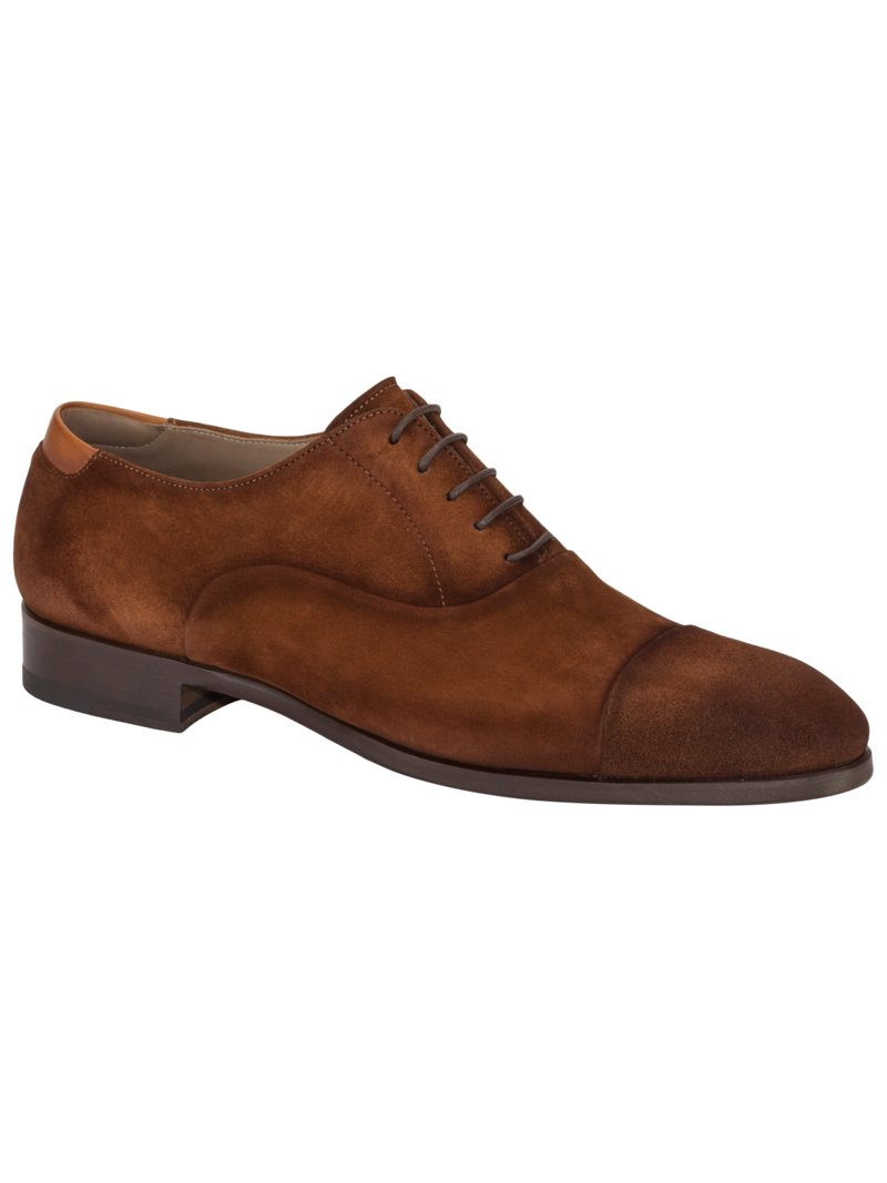 Oxford Businessschuh, in Veloursleder in BRAUN