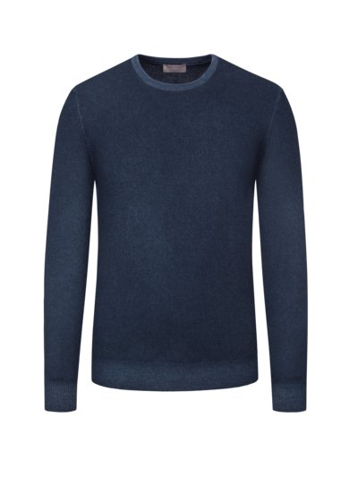 Pullover, O-Neck, 100% Kaschmir in NAVY