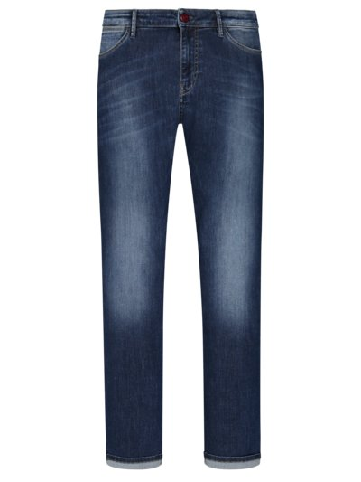 Modische 5-Pocket Jeans mit Stretchanteil, Slim Fit in BLAU
