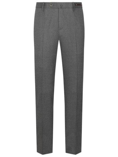 Hochwertige Businesshose in Stretch-Flanell, Slim Fit in GRAU