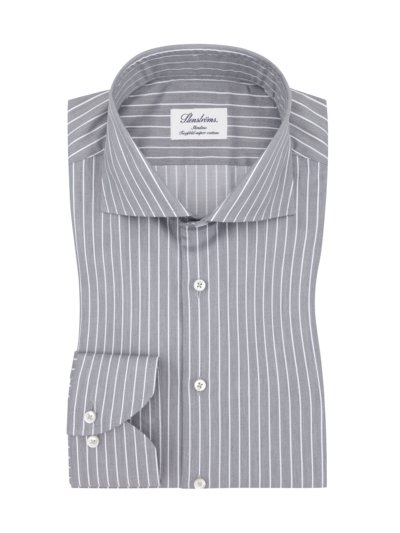Oberhemd, Twofold-Super-Cotton, Slimline in GRAU