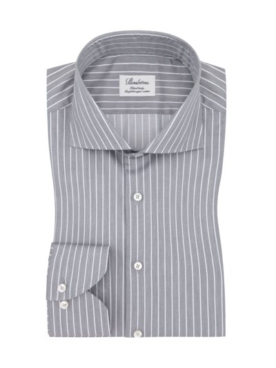 Oberhemd, Twofold super Cotton, Fitted Body in GRAU
