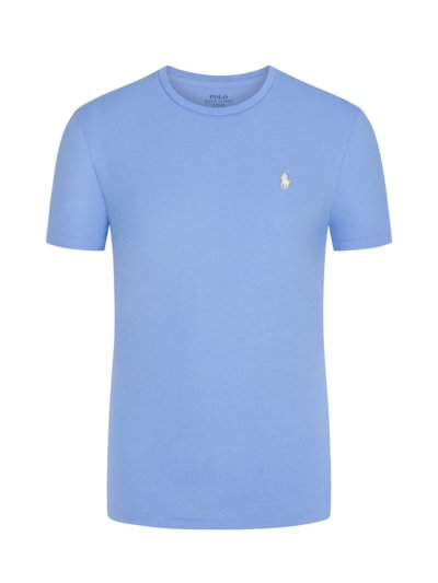 T-Shirt, O-Neck, Custom Slim Fit in HELLBLAU
