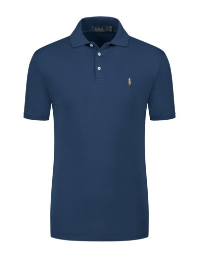 Poloshirt mit Soft-Touch Baumwolle, Slim Fit in ROYAL