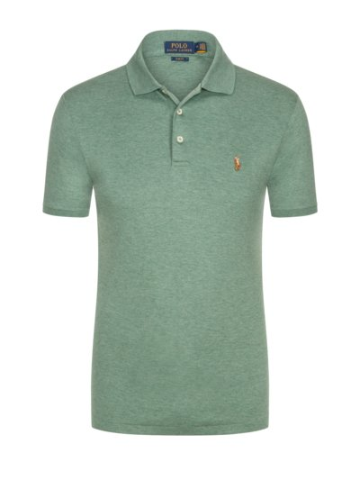Poloshirt mit Soft-Touch Baumwolle, Slim Fit in GRUEN