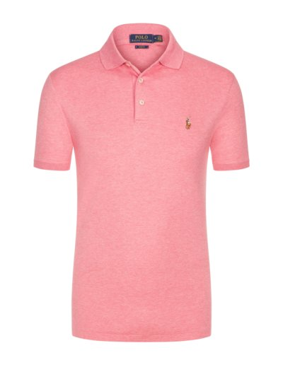Poloshirt mit Soft-Touch Baumwolle, Slim Fit in ROSA