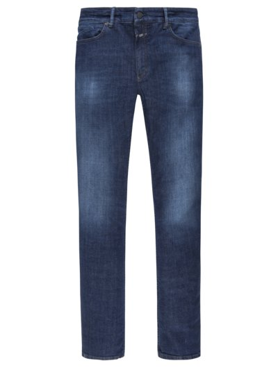 Jeans in gewaschener Optik, Slim Fit in MARINE