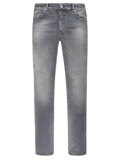 Modische Washed-Jeans, Slim Fit in GRAU